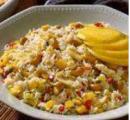 Caribische rijstschotel