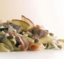 Tricolore pasta met Jazz appel en tonijn